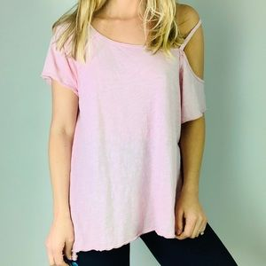 We The Free Pink Cotton Oversized Tee Shirt M